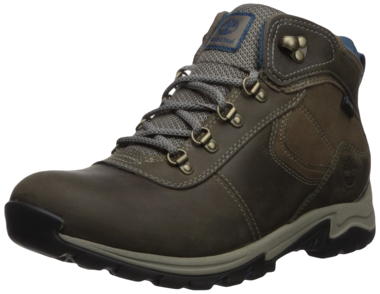 Timberland Women's Mt. Maddsen Mid Lthr WP Hiking Boot, Medium Grey, 7 Medium US