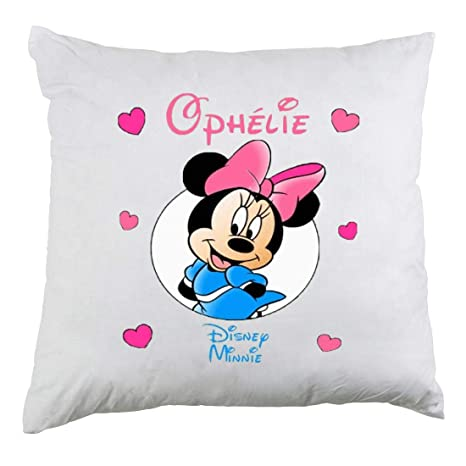 Genérico Funda de cojín Personalizable Minnie con Nombre de ...