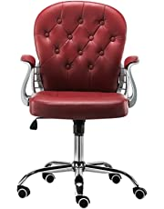 JL Comfurni Office Chair Faux Leather Armchair Swivel Adjustable chair