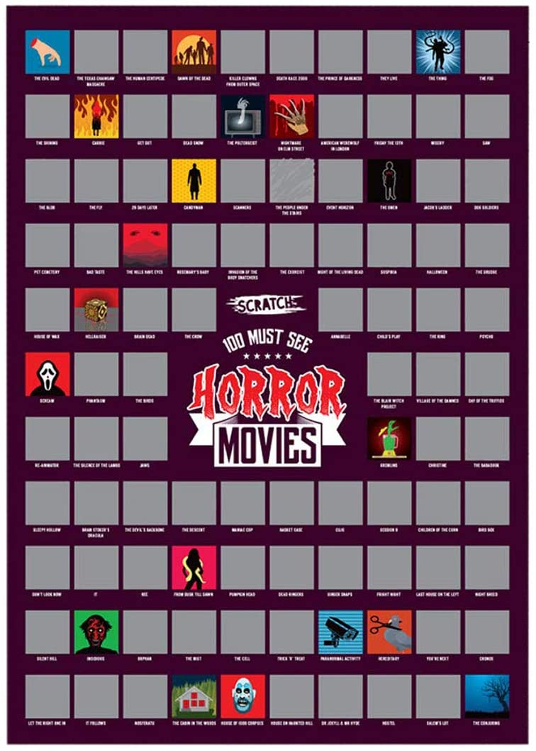 #winning A2 Scratch Off Wall Poster (Must See Horror Movies)