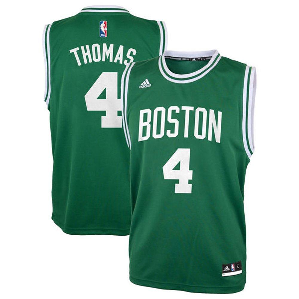 9716b65bd56 ... 4 Isaiah Thomas For Youth Boston Celtics Road Swingman Jersey Kelly  Green color Size M Amazon ...