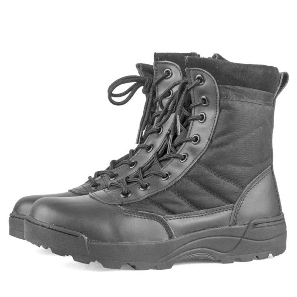 Hombre Tactical Boots Ejército Zapatillas al Aire Libre para IR de excursión Montaña al Aire Libre Negro/Beige tamaño 39-45 hibote network technology Co. Ltd