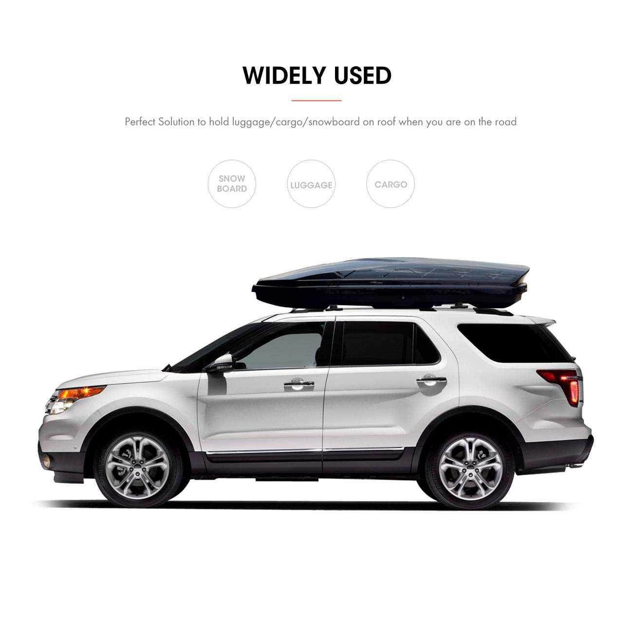 ALAVENTE Roof Rack Cross Bars for Ford Explorer 2016 2017 2018 with Factory roof Side Rails Pair