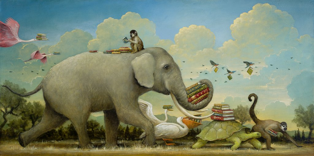 Artifact Puzzles - Kevin Sloan Migration of Knowledge Wooden Jigsaw Puzzle
