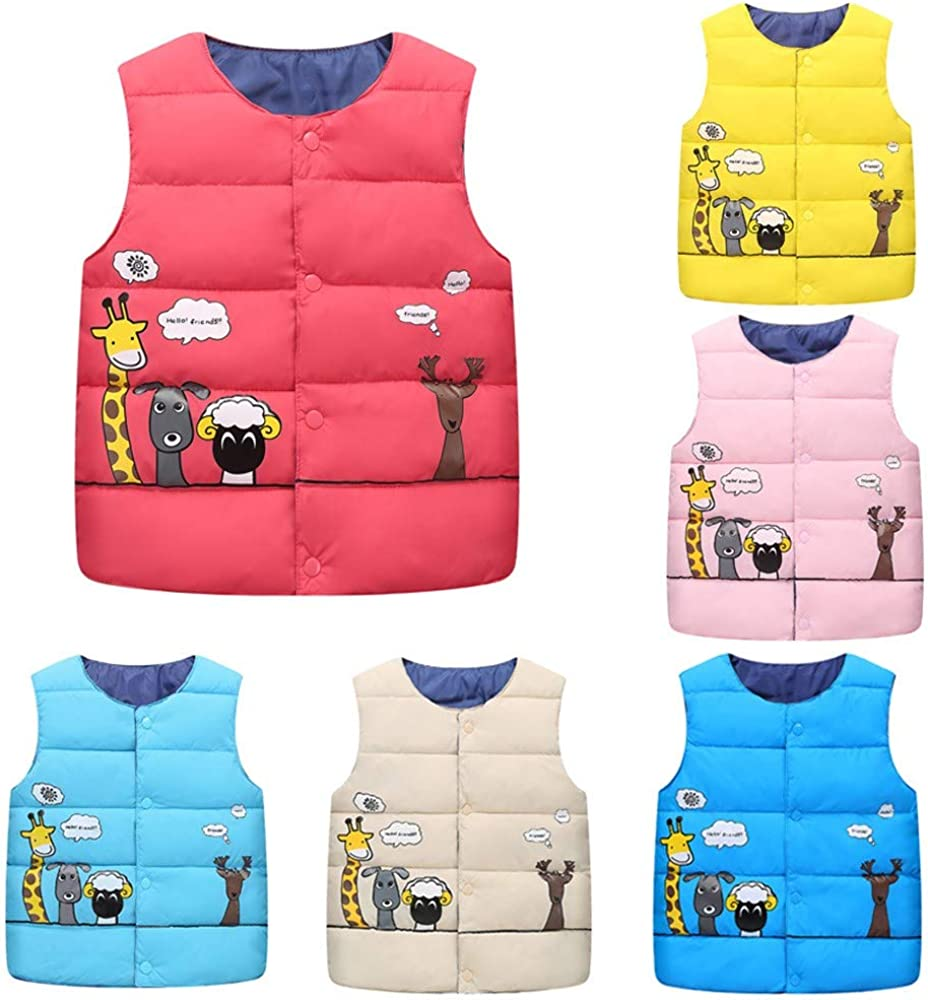 Ideal for Long Walks Yellow H.eternal Girls Softshell Bodywarmer Vest Baby Waistcoat Windproof Warm Gillet Comfortable Casual Sleeveless Jacket Soft Zipped Leisure School Walking