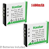 Kastar Battery 2x for Fujifilm NP-50 BC-50 BC-45W Fuji FinePix F50FD F60FD F70EXR F80EXR F100FD F200EXR F300EXR F500EXR F600EXR F770EXR F800EXR F900EXR REAL 3D X20 XF1 XP100 XP150 XP160 XP170 XP200