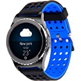 20mm Gear S2 Classic Smart Fitness Watch Band (SM-R732),Silicone Replacement for Samsung Galaxy Gear S2 Classic (Only for Classic Version)(Silincone band-03)