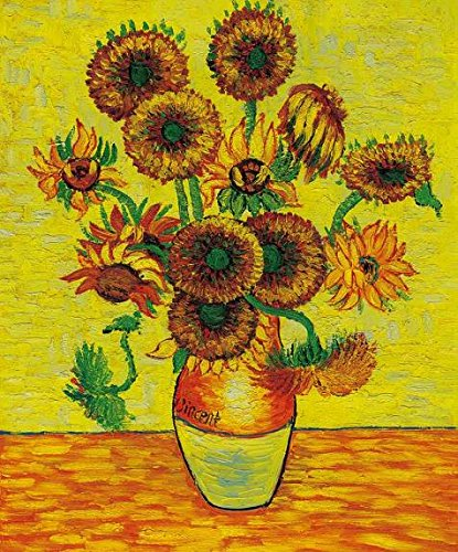 (High Quality Polyster Canvas ,the High Definition Art Decorative Canvas Prints Of Oil Painting 'Vincent Van Gogh - Sunflowers,1888', 8x10 Inch / 20x24 Cm Is Best For Basement Gallery Art And Home Artwork And Gifts)