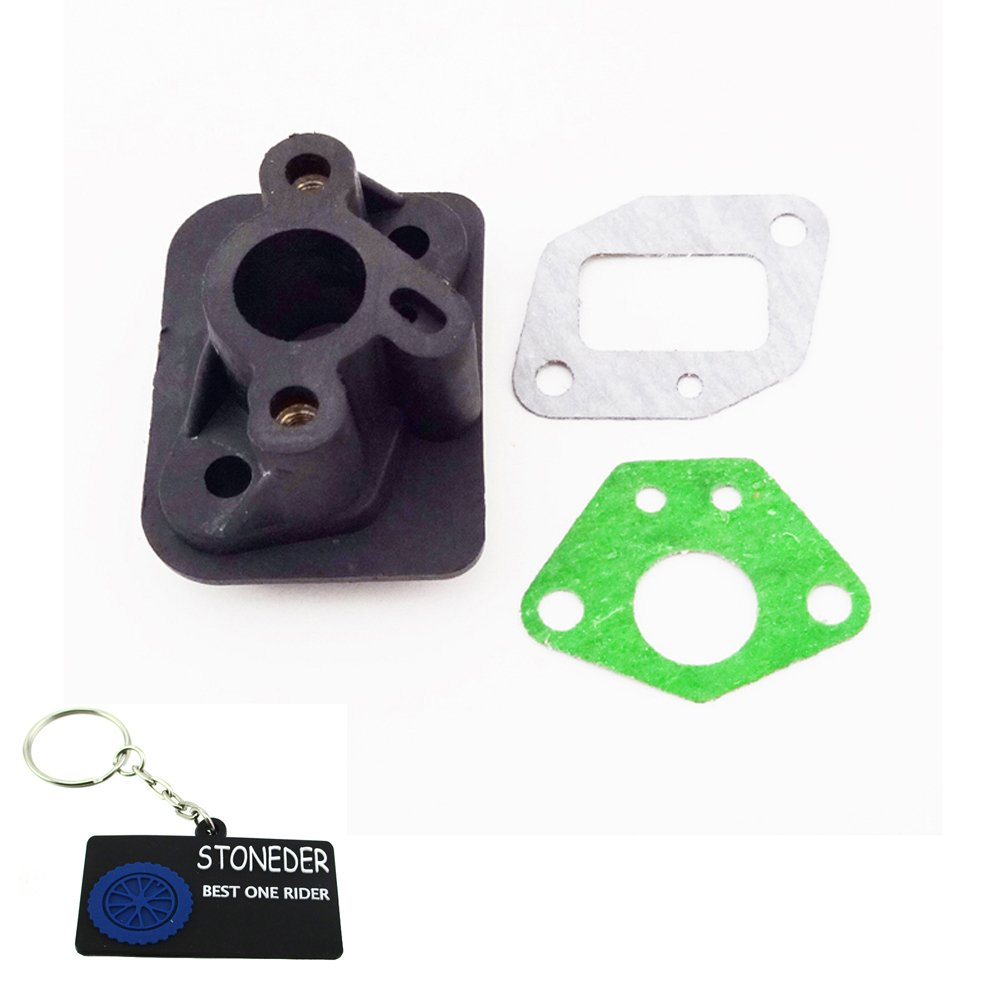 STONEDER Plastic Intake Inlet Manifold Gaskets For 2 Stroke 33cc 43cc 49cc Engine Goped Scooter Cat Eye Pocket Bike Kids Moto