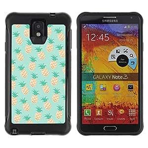Suave TPU GEL Carcasa Funda Silicona Blando Estuche Caso de protección (para) Samsung Note 3 / CECELL Phone case / / pineapple mint 420 weed cannabis /