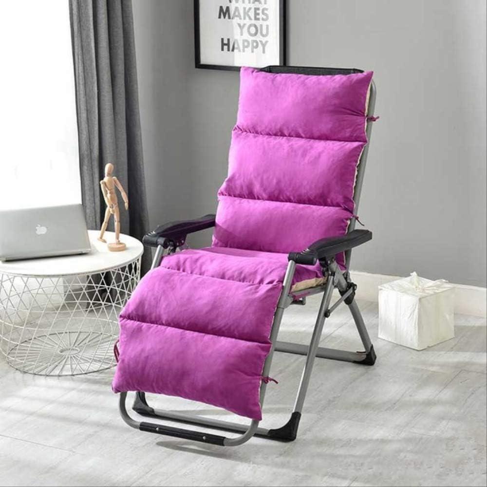 AINIYUE Cojín de Tumbona, cojín Desmontable y Lavable con Respaldo Alto y Chaise Lounge, para Tumbona (sin sillas) El 155x50x12cm Rosado