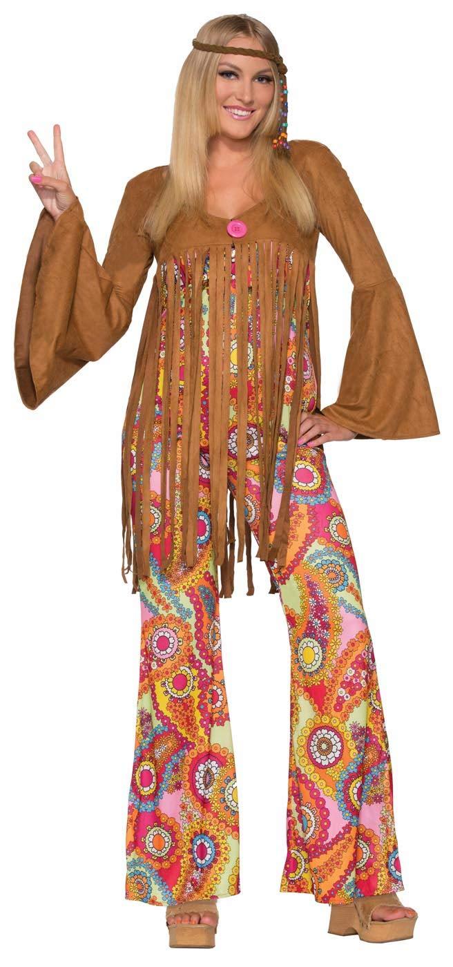 Forum Novelties Women's Groovy Sweetie Hippie Costume, Multi, Medium/Large