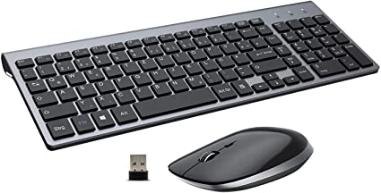 Toetsenbord Muis Draadloos, USB 2.4G Ergonomie 2400 DPI met