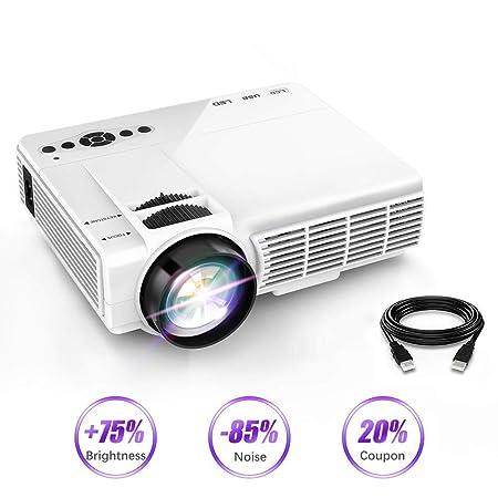 AI LIFE Mini Video Proyector Pantalla 1080P y 170 ...