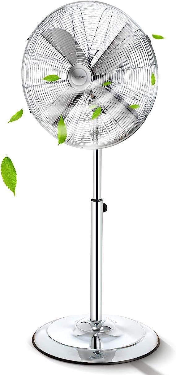 Aigostar Emery 33QRT - Ventilador de pie, oscilante 80º, 60W ...