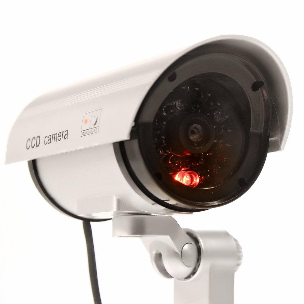 Masione® Cámara de vigilancia falsa, Cámara fictícia, Cámara de vigilancia de imitación de mentira - Nuevo IP inalámbrico Cámara de seguridad falsa, ...
