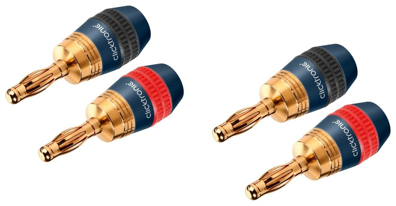 Clicktronic 52546 - Connettore a banana per cavi Loudspeaker con diametro massimo 4, 0 mm² 0 mm² Wentronic GmbH