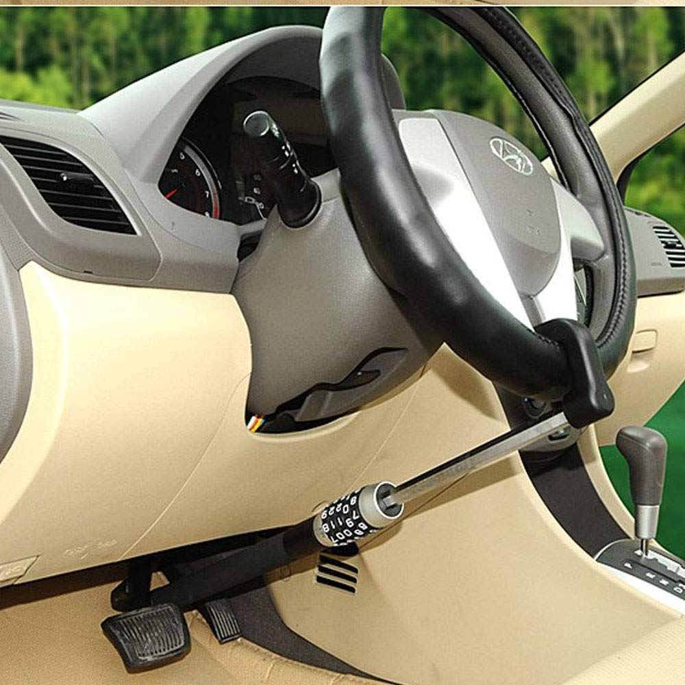 Universal retractable car steering wheel anti-theft lock steering wheel cl anti-theft protection anti-theft protection steering wheel lock theft and unauthorized use of car protection lock lever