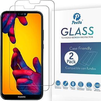 Protector de Pantalla Huawei P20 Lite. [2 Packs] Dureza 9H, sin Burbujas, fácil instalación. Protector de Pantalla de Cristal Templado Premium para Huawei P20 Lite.: Amazon.es: Electrónica