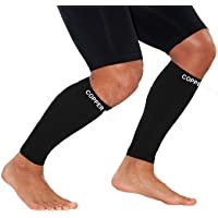 Calf Copper Compression Sleeves by COPPER HEAL (1 Pair) for Exercise Sport Recovery - Calf Muscle Strains Shin Splints…