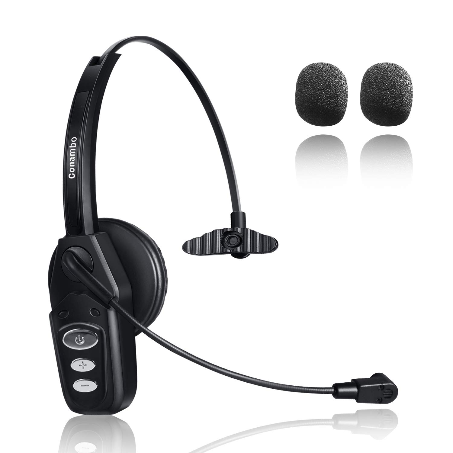 Bluetooth Headset 5 0 With Noise Cancelling Mic 16hrs Talktime Wireless Phone Headset For Truck Driver Call Center Office Buy Online In India Conambo Products In India See Prices Reviews