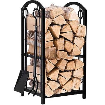 Amagabeli 4 Tools Firewood Rack