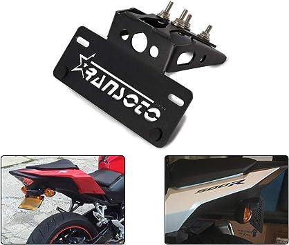 Color : Black For Honda CBR500R CB500F 2016 2017 2018 2019 2020 Kennzeichenhalter Halter Kennzeichenhalter Fender Eliminator Kit 5052-T6 Aluminium