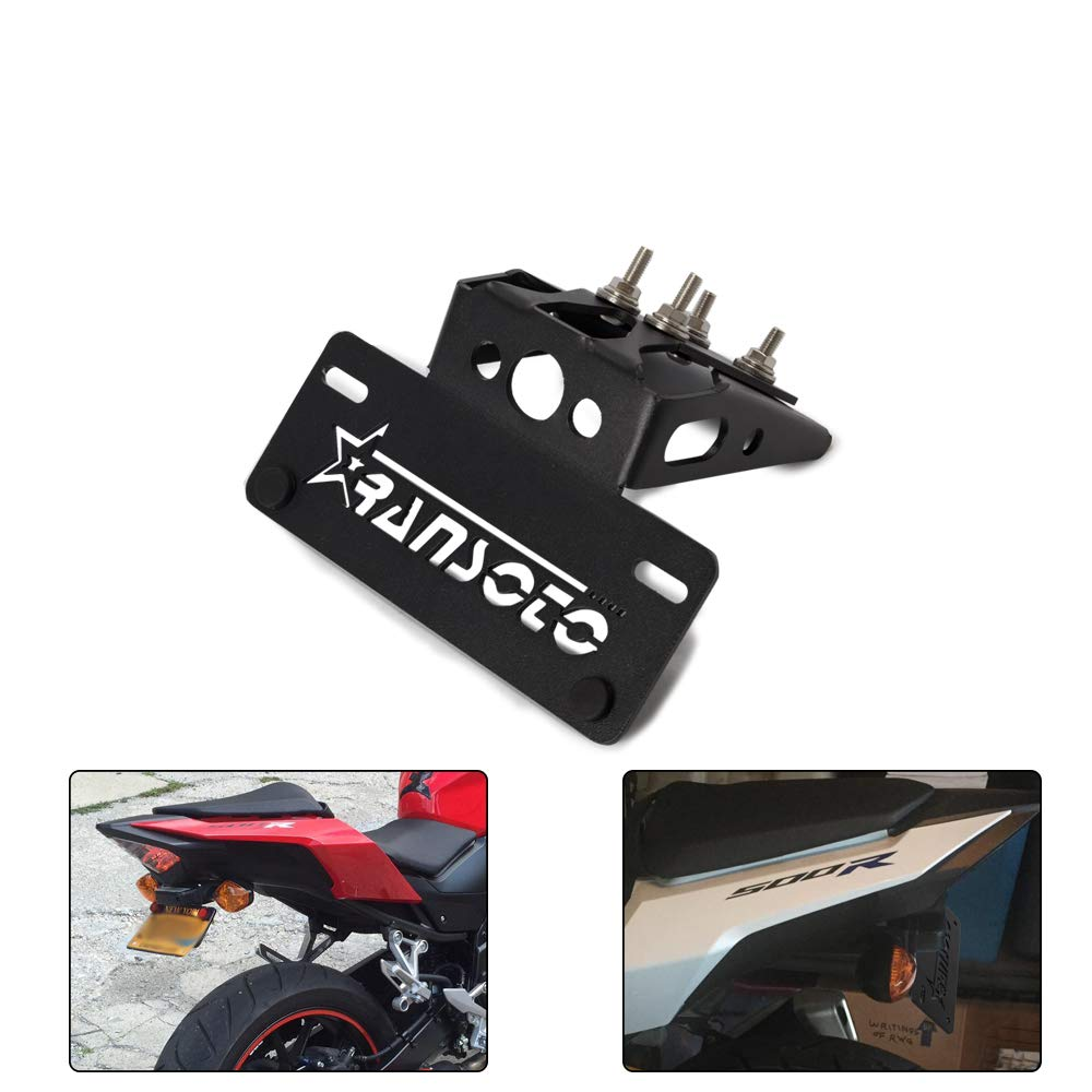 black Motocicleta Fender Eliminator Matr/ícula para Honda CBR500R CB500F 2016-2019