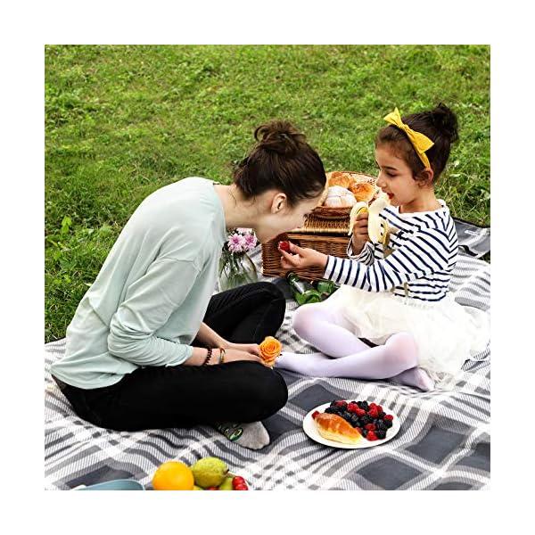 61G2hZ3%2B9ML SONGMICS Picknickdecke, 195 x 150 cm, große Stranddecke, Campingdecke, für Outdoor, Camping, Park, Garten, Strand…