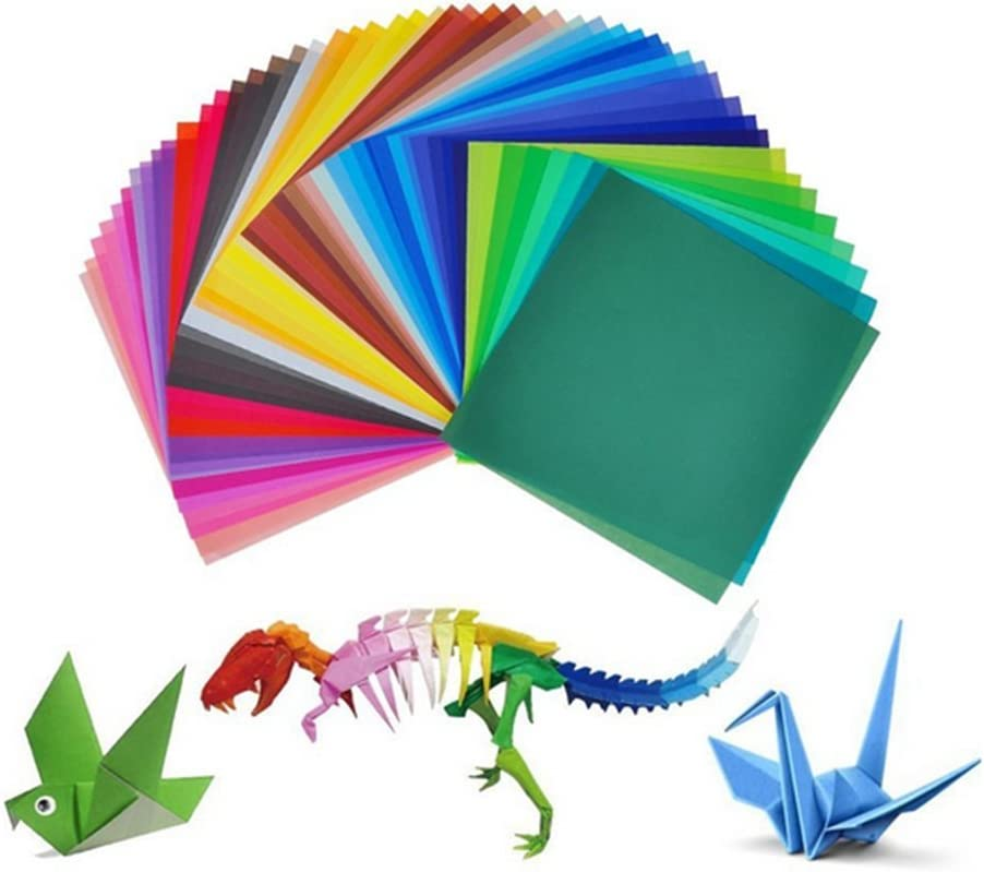 100x Milopon Origami Paper Craft Origami Paper Double-Sided Folding Paper with Eyes for Children 50/Assorted Colours 15/x 15/cm 15*15cm 50 Farbe