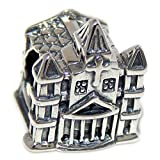 Solid 925 Sterling Silver ''Church'' Charm Bead