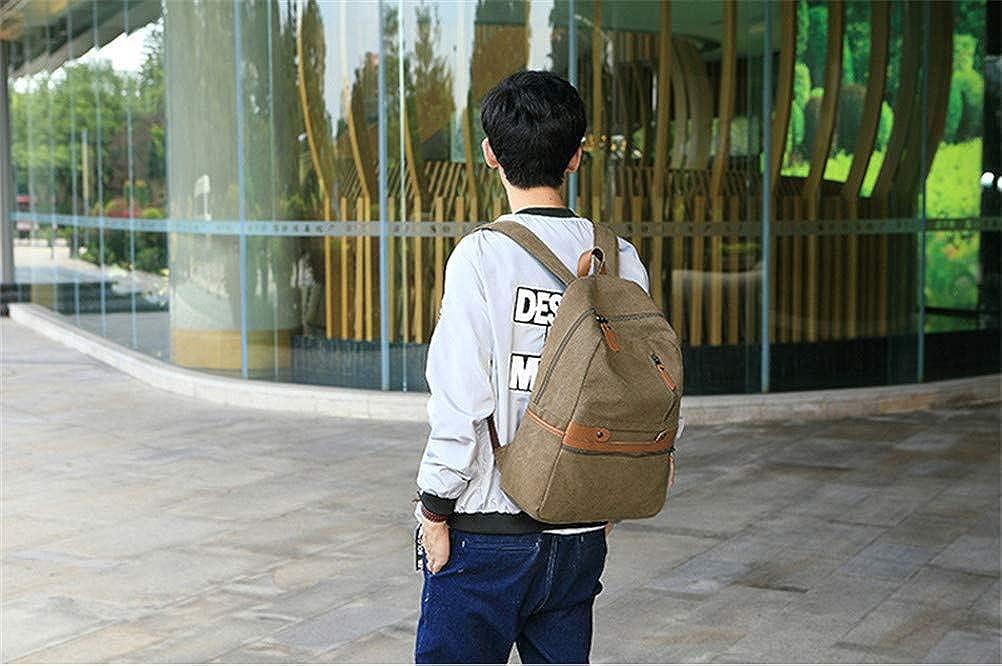 fa56e3fda9efe ... VHVCX Vintage Unisex-Laptop-Rucksack beiläufigen Männer Frauen-Segeltuch  Rucksäcke Schultasche für Jugendliche