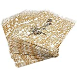 100 Gold Paper Gift Bags Shopping Sales Tote Bags 4 x 6""
