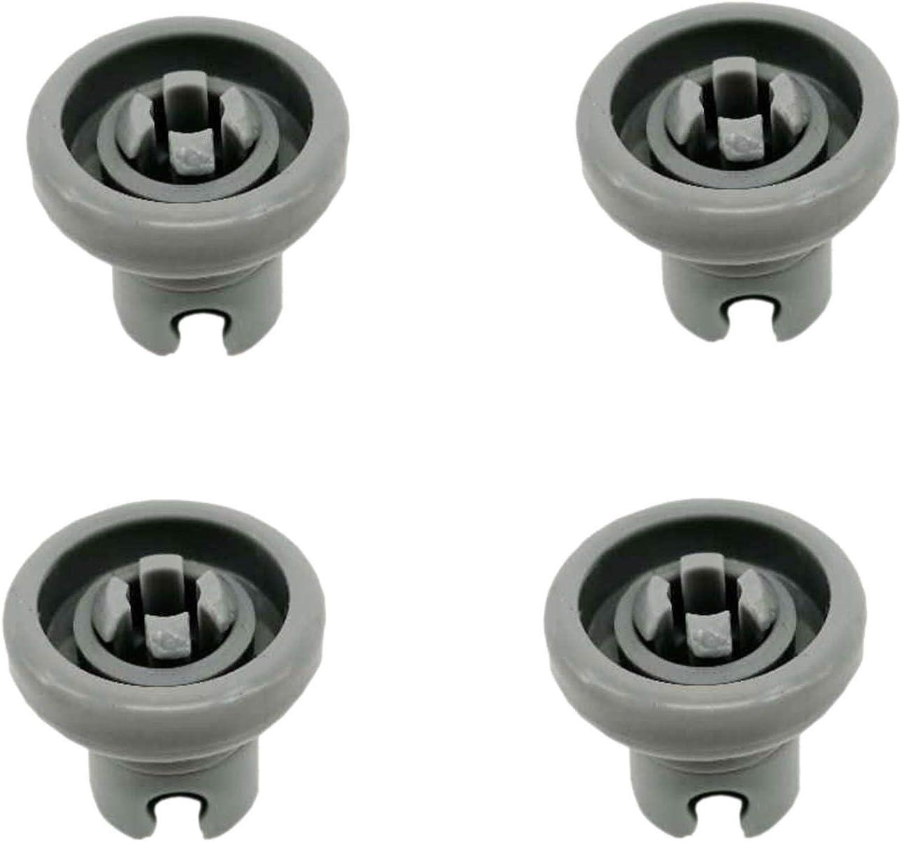 8X Dishwasher Upper Basket Wheel For Electrolux 50286967000 50286966002 25mm Top Bottom Roller Runner /& Clip Axle