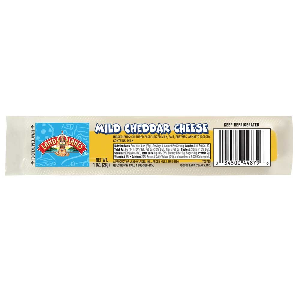 Land O Lakes Mild Cheddar Cheese Stick, 1 Ounce - 168 per case. by Land O Lakes