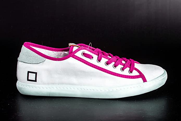 Scarpe uomo donna D.A.T.E TENDER LOW MILITARY bianco fuxia sneakers N.36  X2207  Amazon.it  Scarpe e borse 3908cf73bc7