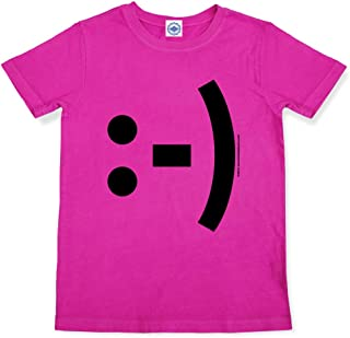 product image for Hank Player U.S.A. Happy Face Emoticon Girl's T-Shirt