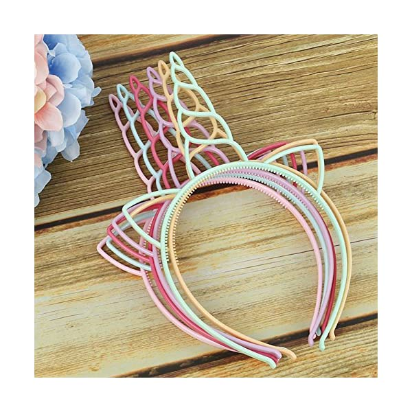 FANKUTOYS 12 Pack Unicorn Headbands Hair Hoop Girls Party Decoration Headdress Birthday Party Favors Unicorn Photo Props 7