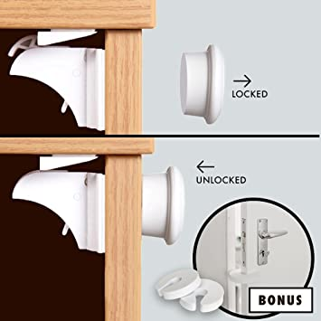 Amazon.com : Safe Living Child Safety Magnetic Cupboard ...