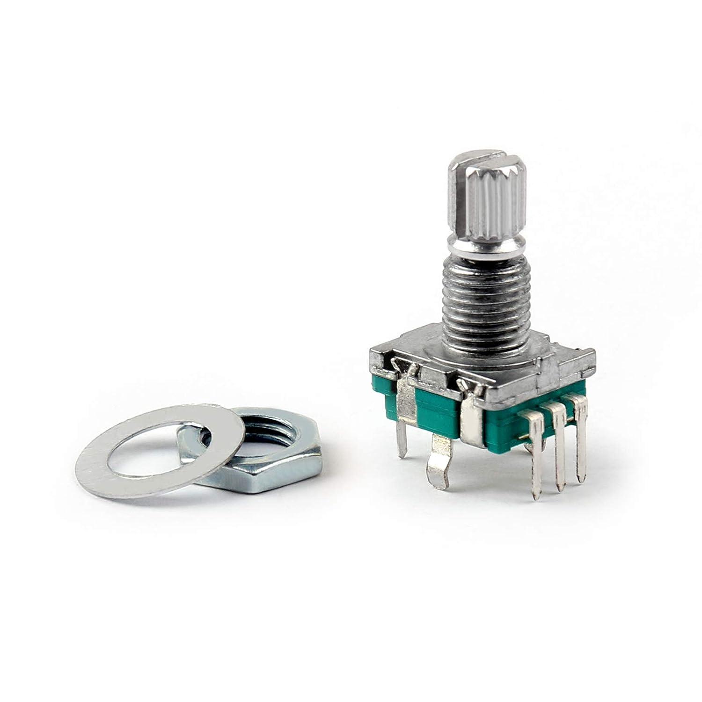 5PCS Rotary Encoder With Switch EC11 Audio Digital Potentiometer Handle IY