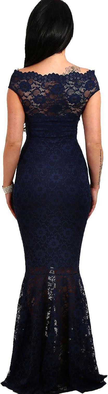 Ovender Vestiti Donna Eleganti Abiti da Cerimonia Ragazza Abito Vestito Lunghi Donne Ragazze Impero Formale Elegante Lungo per Ballo Pizzo Party Festa Sposa Damigella 3
