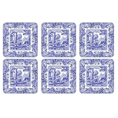 Spode Blue Italian Coasters; Set of 6 New