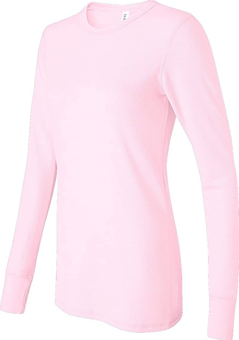 Bella Ladies Irene Long-Sleeve Thermal 2XL Soft Pink Bella+Canvas B8500