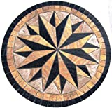 Tile Floor Medallion Marble Mosaic Multi Star Design 36''