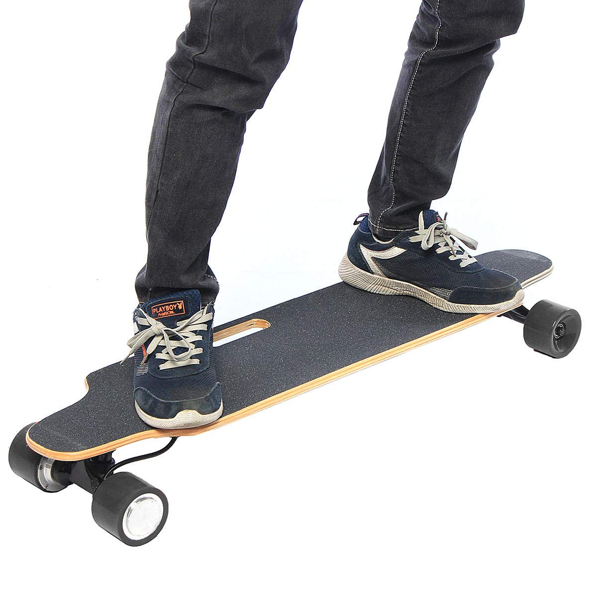Freelance Shop Sport ALFAS 25km/h 500W Electric Skateboard Scooter Remote Control Longboard 7-Layer Maple Board Shock Proof Board - Red