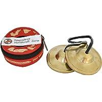 "NHZ Tingsha Tibetan Meditation Bell 2.5"" Embossed with free case (Plain Golden)"