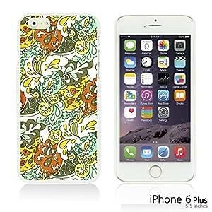 OnlineBestDigital - Flower Pattern Hardback Case for Apple iPhone 6 Plus (5.5 inch) Smartphone - Floral Texture