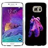 Snap-on Series Plastic Back Case Shell Skin Cover for Samsung Galaxy S6 , ( Octopus Purple Kraken Monster Diving )