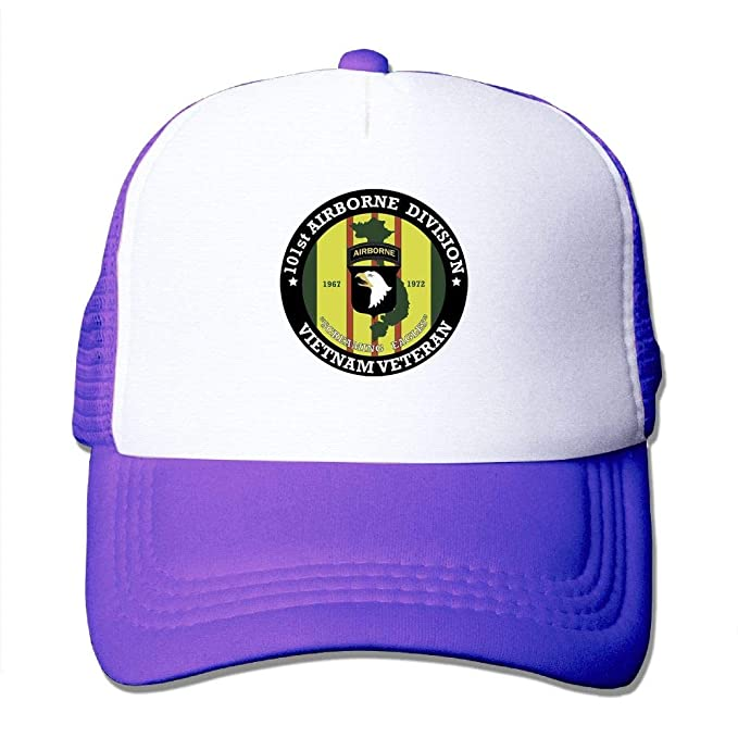 45e70f9704b Image Unavailable. Image not available for. Color  Elephant AN 101st  Airborne Division Vietnam Veteran Adjustable Mesh Baseball Cap ...