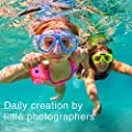 Underwater Camera for Kids, HD 1080P Waterproof Kids Camera, Video Recorder Action Preschool Camera, 8X Digital Zoom Camera with Flash & Microphone Sticker